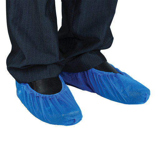 Blue CPE overshoes